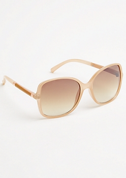 Brown Faux Snakeskin Sunglasses
