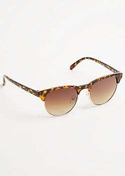 Tortoiseshell Retro Round Sunglasses