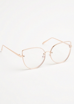 Rose Gold Cat Eye Readers