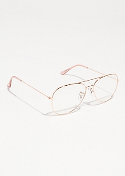 Rose Gold Aviator Readers