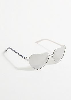 Americana Mirrored Heart Sunglasses
