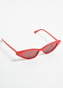 Red Micro Cat Eye Sunglasses