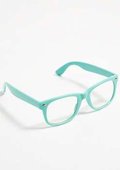 Mint Chunky Frame Square Readers