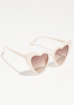 Pink Cat Eye Heart Sunglasses