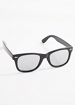 Black Gleam Mirror Lens Sunglasses
