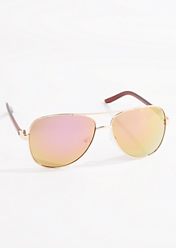 Gold Mirror Lens Aviators