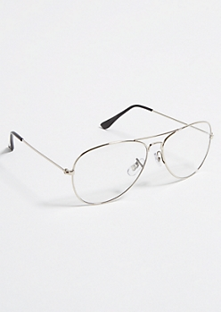 Silver Metal Frame Aviator Readers