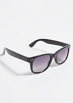 Black Thick Frame Square Sunglasses