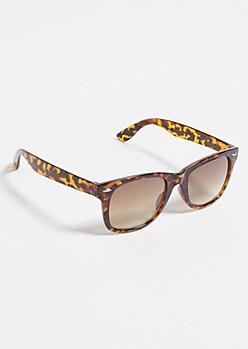 Tortoiseshell Thick Frame Square Sunglasses