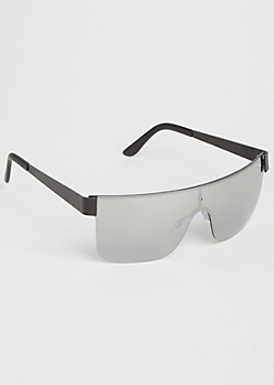 Silver Flat Top Sport Sunglasses