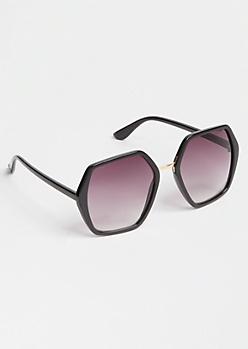 Black Gradient Octagon Sunglasses
