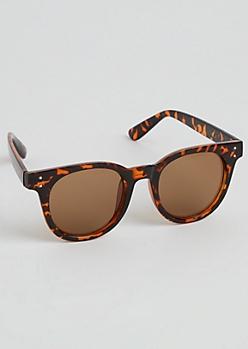 Tortoiseshell Round Retro Sunglasses
