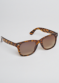 Tortoiseshell Gradient Square Sunglasses
