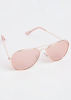 Rose Gold Metal Aviators