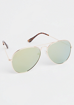 Black Mirrored Lens Sunglasses