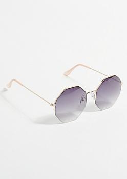 Black Ombre Geometric Sunglasses