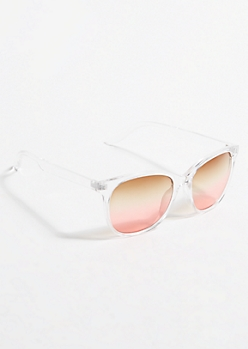 Clear Ombre Sunglasses
