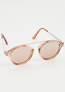 Pink Brow Bar Cat Eye Sunglasses