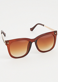 Chunky Retro Gradient Lens Sunglasses