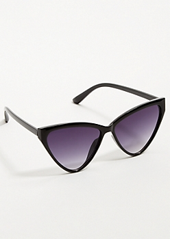 Black Retro Smoky Triangle Sunglasses