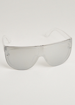 Silver Full Coverage Sunglasses