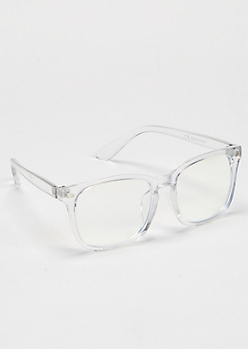 Clear Square Reader Glasses