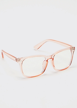 Pink Square Reader Glasses