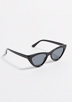 Black Micro Cat Eye Sunglasses