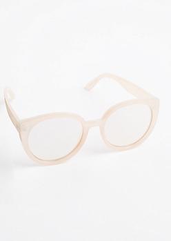 Pink Round Cat Eye Sunglasses