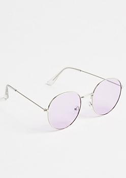 Lavender Round Sunglasses