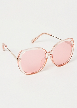 Rose Gold Oversized Sunglasses