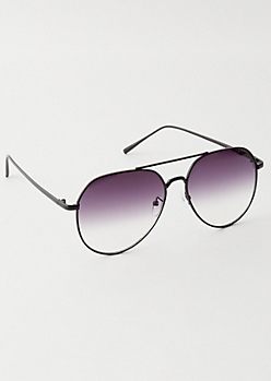 Purple Gradient Aviator Sunglasses
