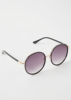 Black Circle Smoky Sunglasses