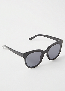 Black Oversized Cat Eye Sunglasses