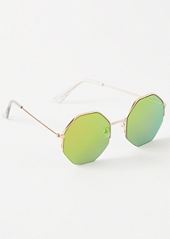 Green Octagon Sunglasses