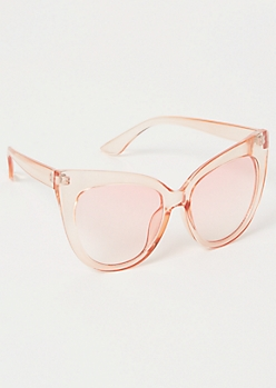 Pink Monochrome Cat Eye Sunglasses
