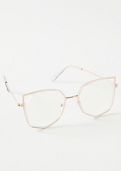 Gold Cat Eye Blue Light Readers