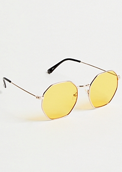 Yellow Geometric Sunglasses