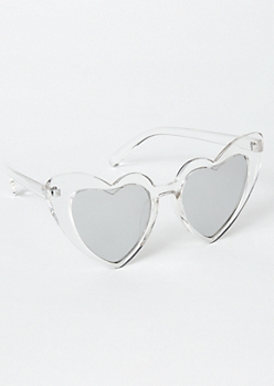 Clear Heart Eye Sunglasses