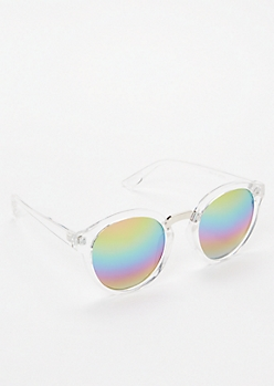 Rainbow Round Mirrored Sunglasses