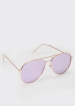 Lavender Aviator Sunglasses