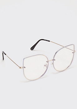 Clear Round Cat Eye Readers