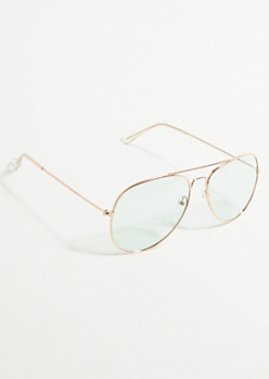 Mint Lens Aviator Sunglasses