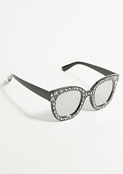 Black Star Oversize Square Sunglasses