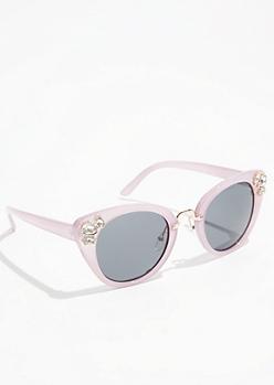 Purple Gemstone Cat Eye Sunglasses