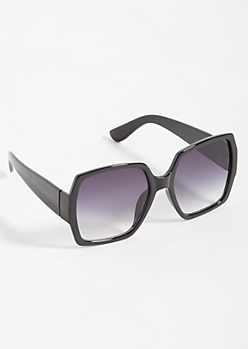Black Oversized Square Sunglasses