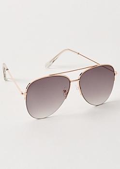 Gold Gradient Aviator Sunglasses