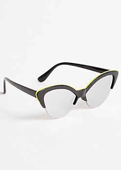 Neon Pop Mirrored Cat Eye Sunglasses