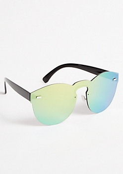Mirrored Round Shield Sunglasses