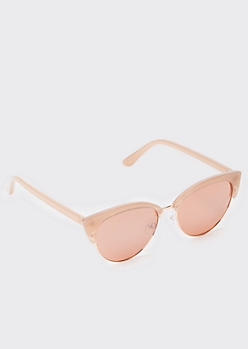 Pink Tonal Cat Eye Sunglasses